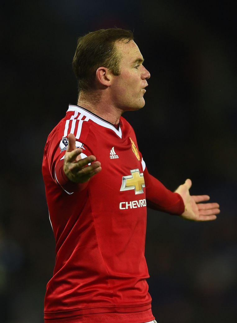 Wayne Rooney sukkelt al het hele seizoen met zijn vorm. De aanvaller kwam in 12 competitieduels maar tot 2 treffers. Beeld GETTY