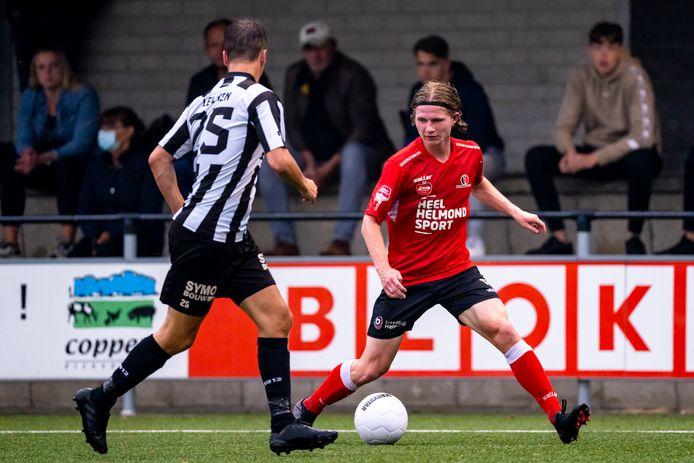 Arno Van Keilegom schoot Helmond Sport nog op voorsprong tegen Gemert, maar het was niet genoeg voor de winst.