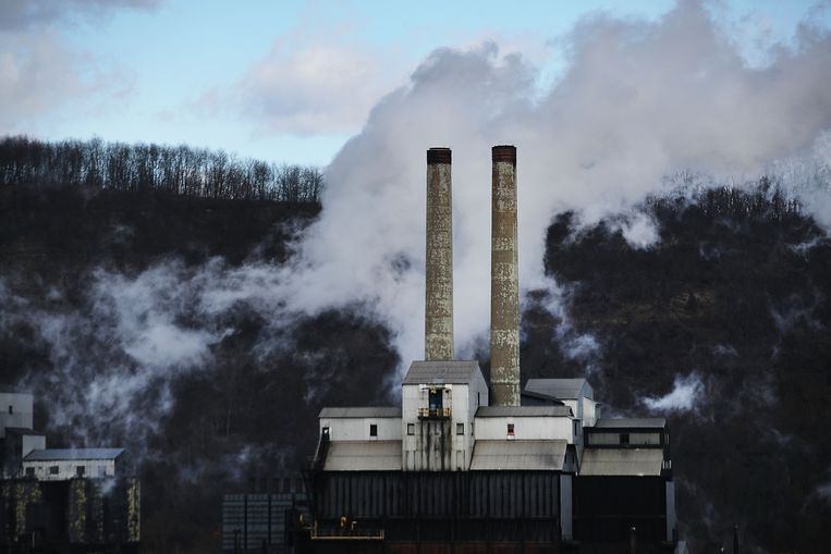 De fabriek van United States Steel Corporation Beeld AFP
