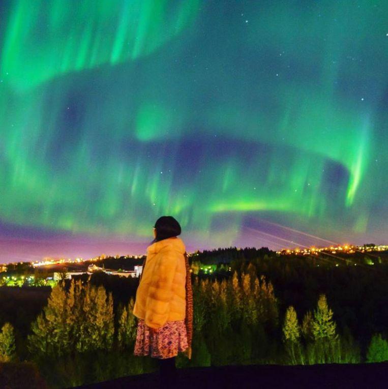 Het noorderlicht boven IJsland. Beeld Instagram/xingqiaoyan
