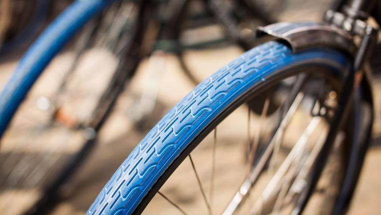 Je herkent een Swapfiets direct aan die typische blauwe voorband Beeld Swapfiets