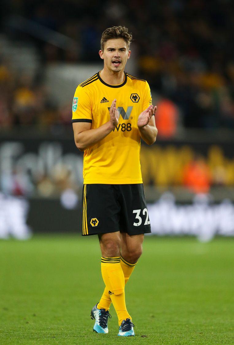 Leander Dendoncker speelde tot nu toe nul minuten in de Premier League. Beeld Getty Images
