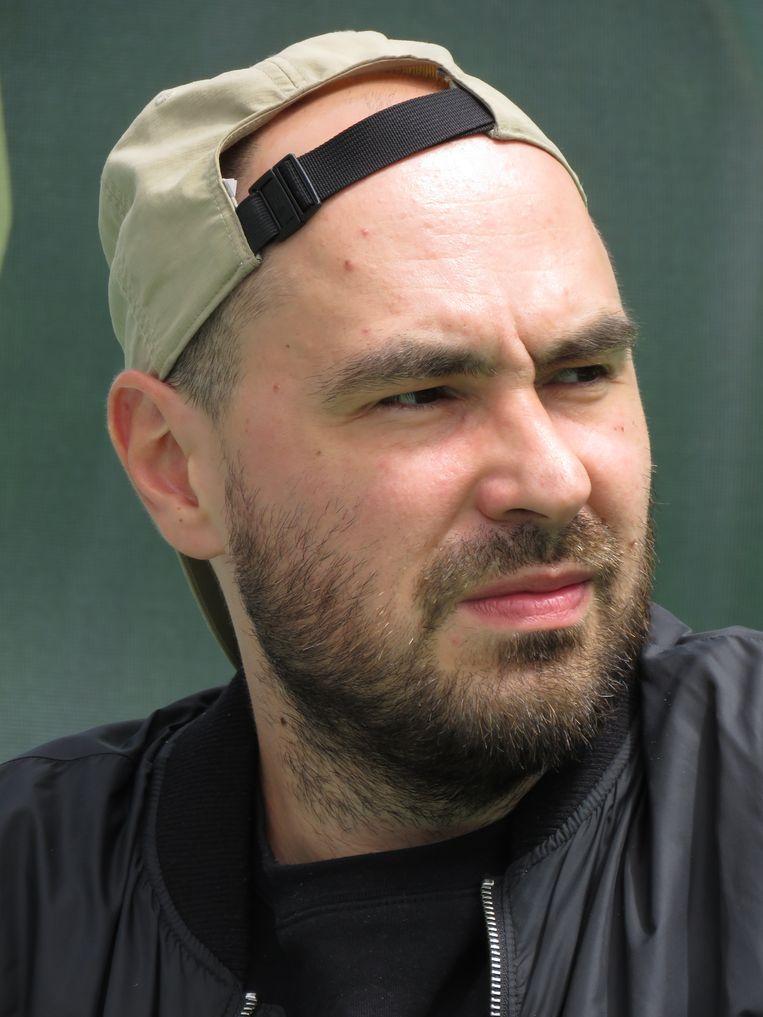 De Poolse schrijver Jakub Zulczyk beledigde president Duda op Facebook omdat die Trump bleef steunen. Beeld Mariusz Kubik