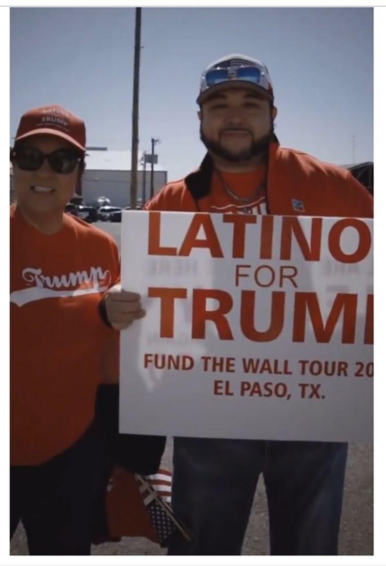 'Latino's voor Trump' heet de campagne die de Republikeinen zijn begonnen, tegelijk met het bloedbad in El Paso. Beeld .x