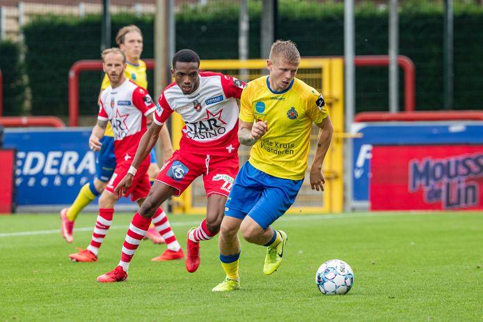 Jacob Buus Jacobsen in actie in de 0-4-zege op Moeskroen van vorige maand.