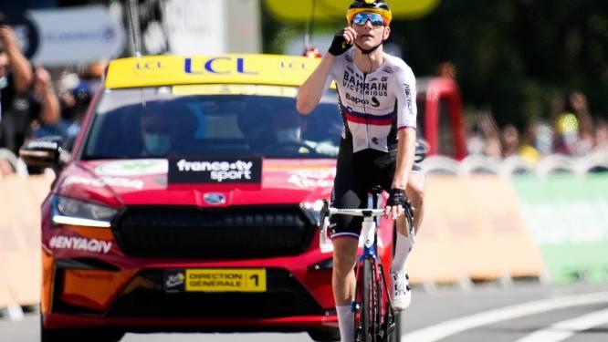 Ritwinnaar Mohoric baart opzien met 'Armstrong-gebaar': 'Of iedereen zijn bek wil houden'