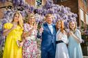 De koninklijke familie tijdens Koningsdag 2020.