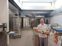 Het interieur van de bakkerij is volledig vernieuwd.