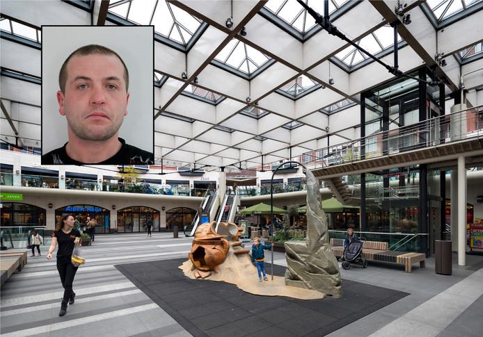 De overleden Pool Marcin Naus en de Arena in Den Bosch. Hij veroorzaakte een groepje Polen regelmatig overlast.
