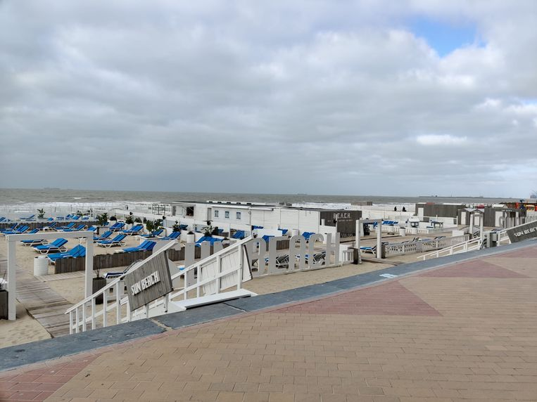 De strandbars in Blankenberge. Beeld BHT