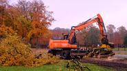 Omstreden bomenkap gemeentepark gestart
