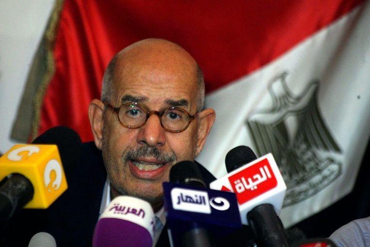 Interim-vice-president ElBaradei. Beeld ANP