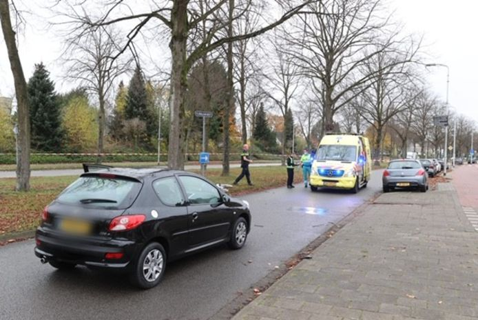 Ongeluk met auto en fietsster in Eindhoven.