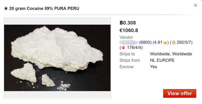 Cocaïne op het dark web - gebruikers in Gent geven aan dat ze vaker online bestellen.