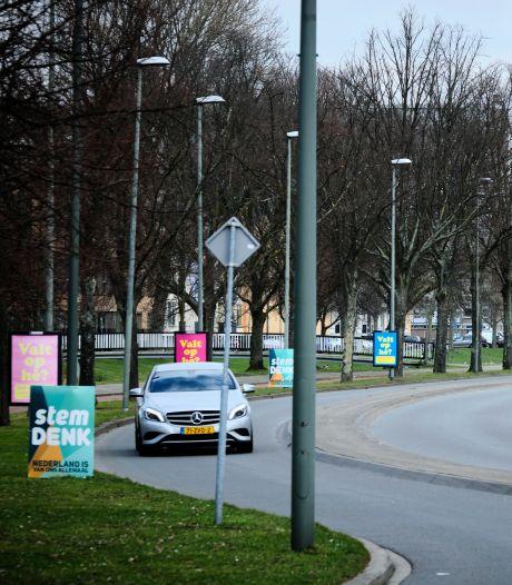 Denk Schiedam doet aangifte van diefstal en vernieling van campagneborden