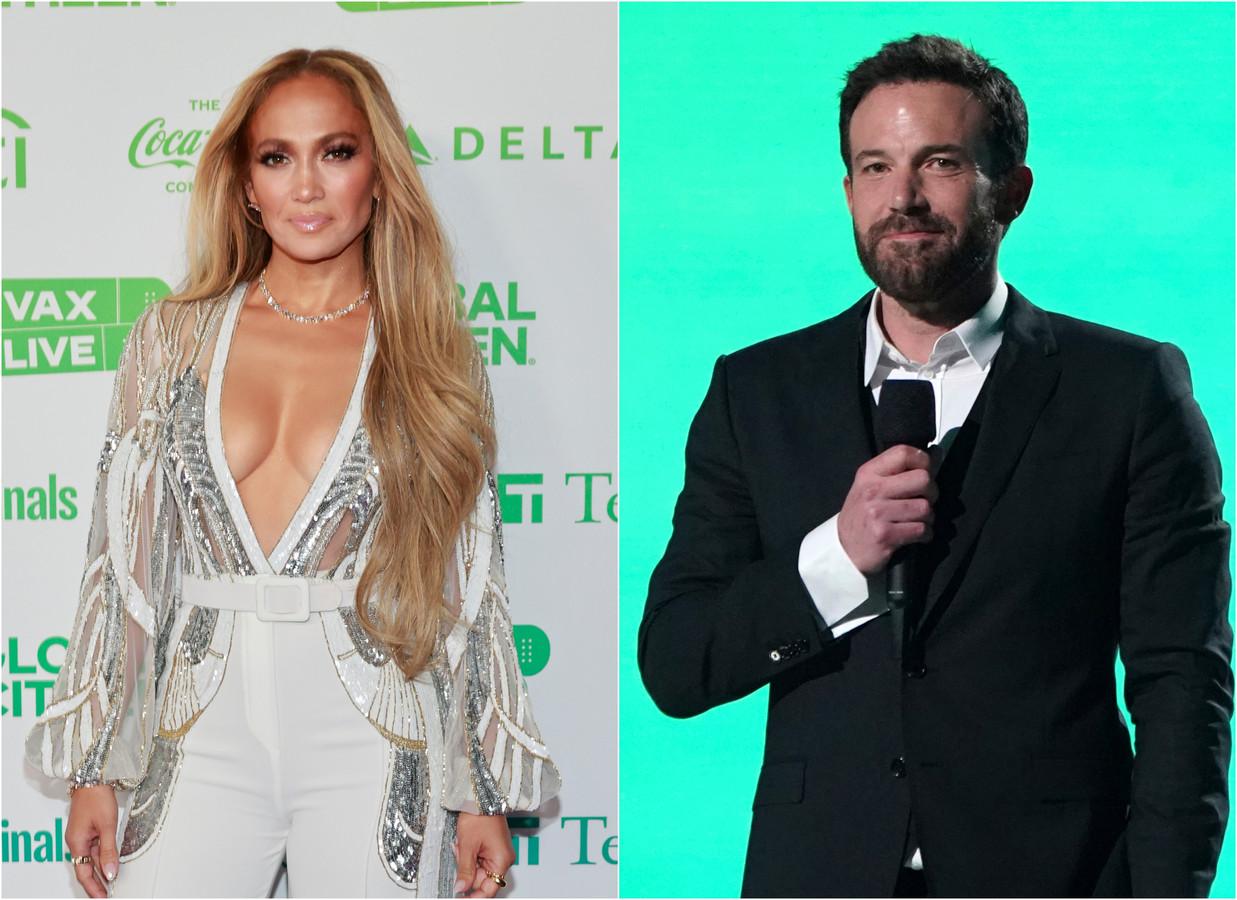 Jennifer Lopez en Ben Affleck afgelopen zondag op het VAX concert
