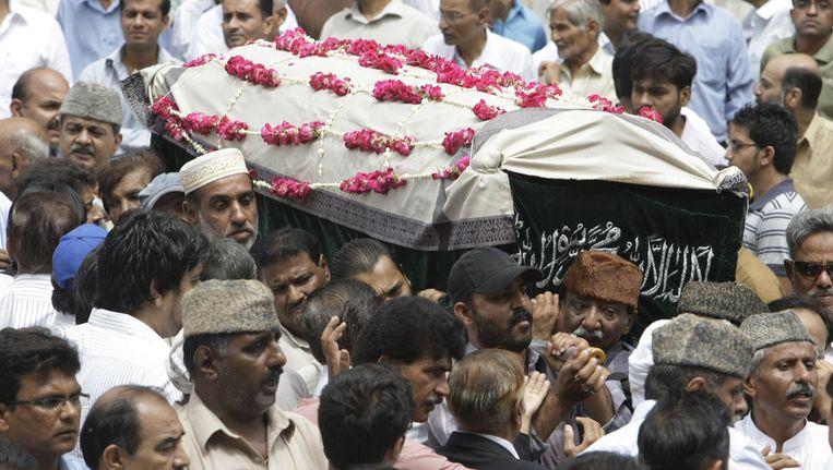 Begrafenis van één van de slachtoffers. Beeld ap