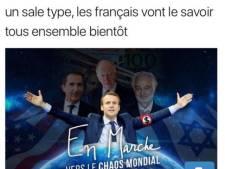 Scandale autour d'un tweet antisémite mettant Macron en scène
