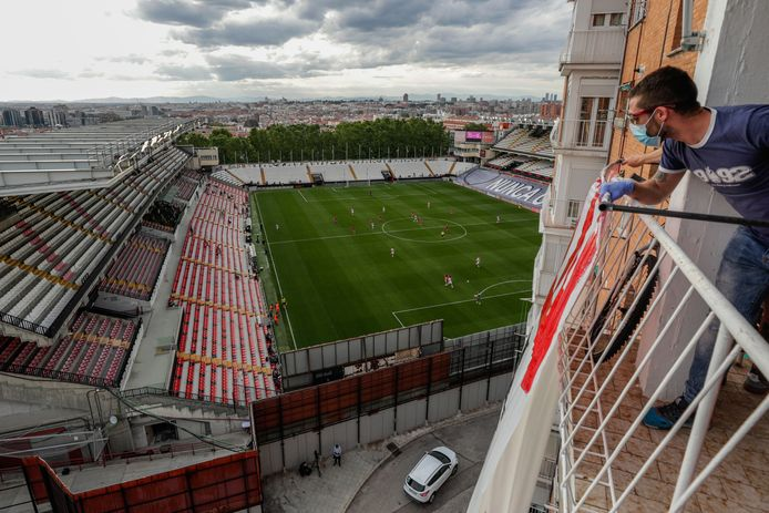 Het Estadio de Vallecas van Rayo Vallecano.
