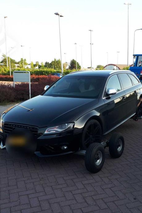 Onverzekerde Audi van de weg gehaald