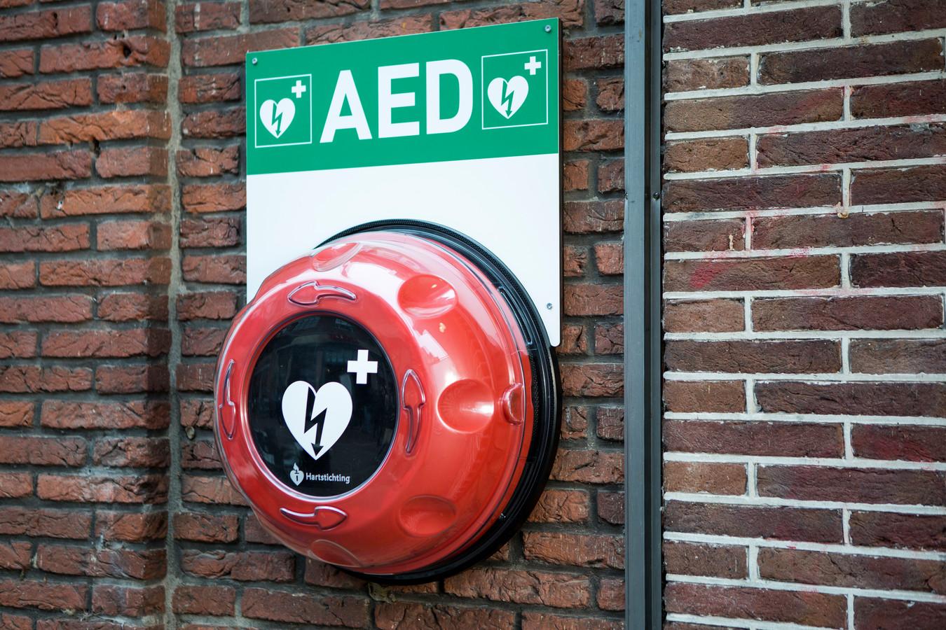 AED met buitenkast. Foto ter illustratie