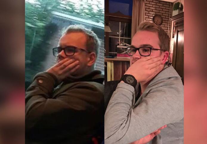 Rechts: Dion van Drom. Links: Z'n dubbelganger.