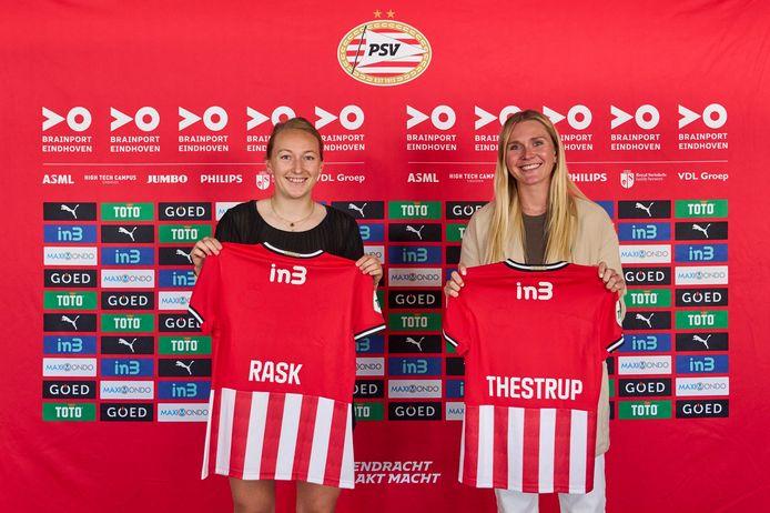 Caroline Rask en Amalie Thestrup hebben een contract getekend bij PSV.