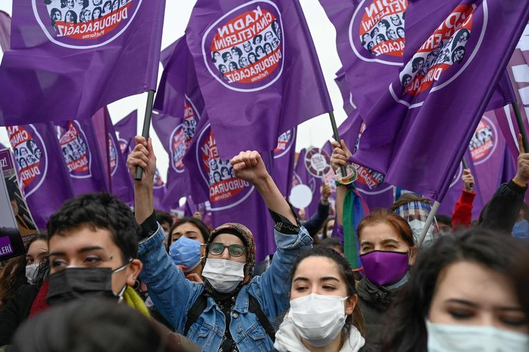De oppositie inTurkije is woedend om het besluit. Beeld AFP