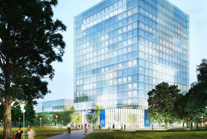 Impressie van de nieuwbouw voor het RIVM en CBG in Utrecht.