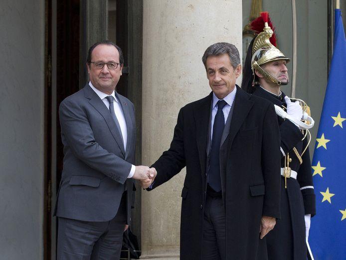 Nicolas Sarkozy et François Hollande en 2016.