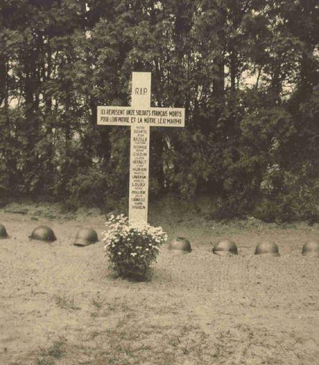 Brug voor 11 jonge Franse gesneuvelde soldaten in Diessen