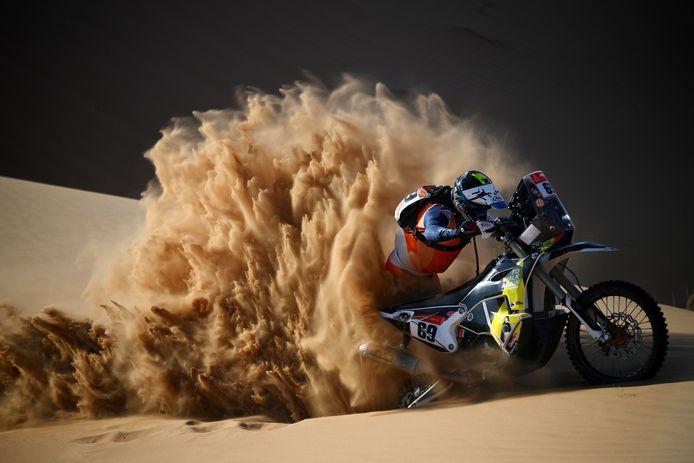 Walter Roelants in actie tijdens de Dakar 2021, een helse tocht die hij tot een goed einde bracht.