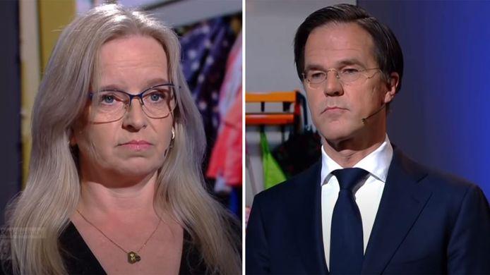 Kristie Rongen ging met Mark Rutte in debat over de toeslagenaffaire.