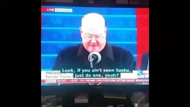 BBC de mist in met ondertitels tijdens inauguratie