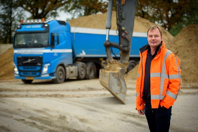Erik van Aaken, directeur van het grondverzetbedrijf in Eersel en voorzitter van de provinciale afdeling van brancheorganisatie Cumela.
