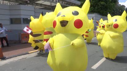 Klimaatactivisten verkleden zich als Pikachu