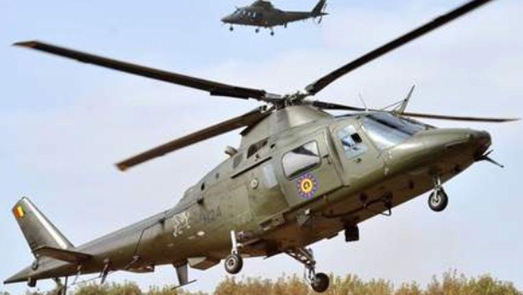 Een helikopter van dit type stortte vanmiddag neer op de basis in Bevekom. (Illustratiefoto) Beeld kos