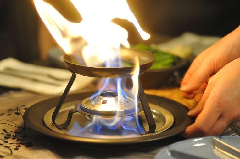 Zet geen brandbare materialen in de buurt van je fondue- of gourmetstel.