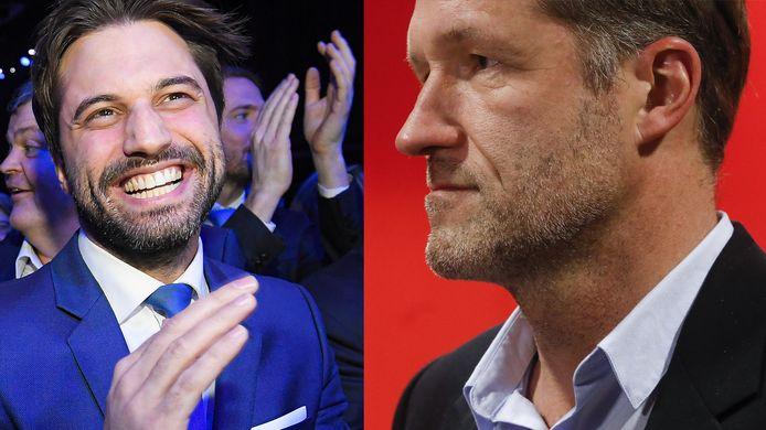 Georges-Louis Bouchez (MR) en Paul Magnette (PS).
