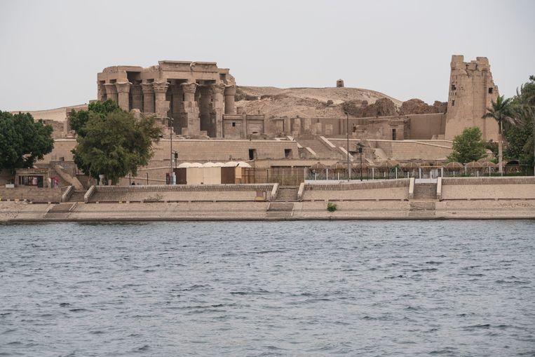 De tempel van Kom Ombo, gebouwd tijdens de Ptolemaeische dynastie langs de Nijl. Beeld photo_news