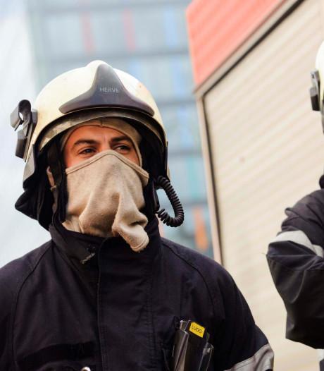 Manifestation des pompiers dans le centre de Bruxelles