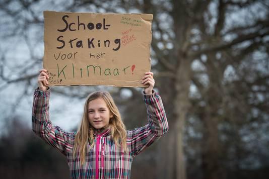 Jovanna van den Berg voert actie voor klimaat