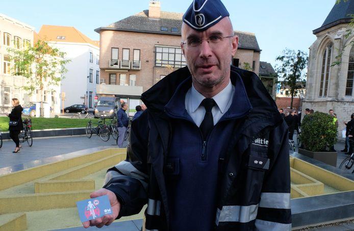 MECHELEN - Opening van grootste fietszone van Vlaanderen in Mechelen. De politie zal de komende dagen eerst sensibiliseren en vervolgens pas verbaliseren.