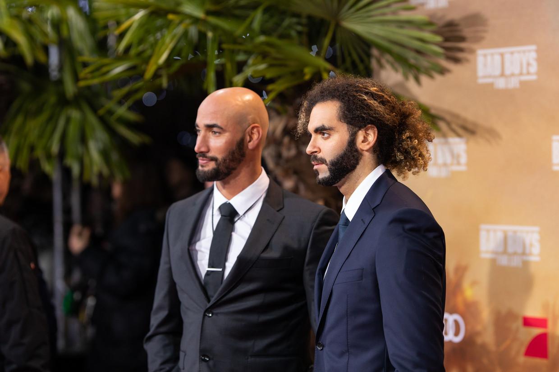 Bilall Fallah en Adil El Arbi op de rode loper in Berlijn voor 'Bad Boys For Life'.