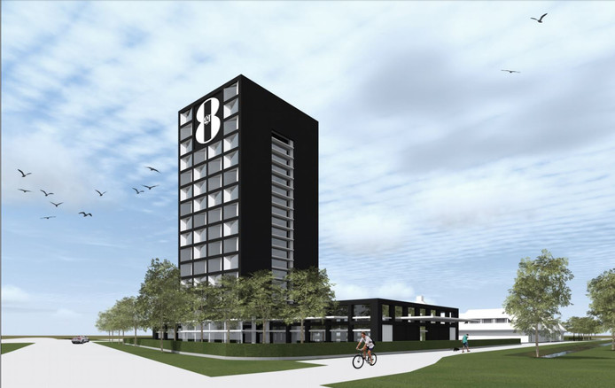 Het oude ontwerp van het GR8-hotel in Breda