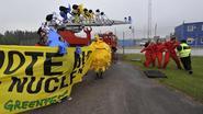 Greenpeace voert protestactie aan Zweedse kerninstallatie