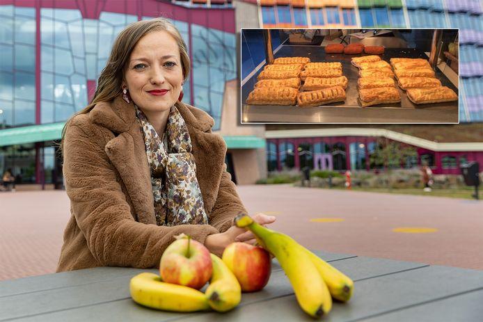 Iris de Vries bij ziekenhuis Isala in Zwolle. Als voorzitter van de vereniging Arts en Leefstijl roept ze alle ziekenhuizen op om sneller werk te maken van gezonde voeding voor patiënten, bezoekers en medewerkers.
