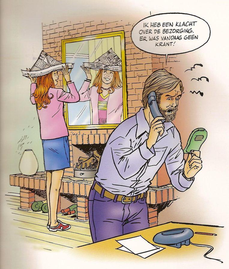 Cartoon van striptekenaar Noortje. Beeld Jan Steeman