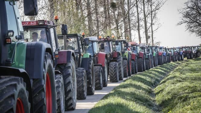 Colonne tractoren trekt vrijdag door gemeente: Flor Hofmanslaan afgesloten voor verkeer