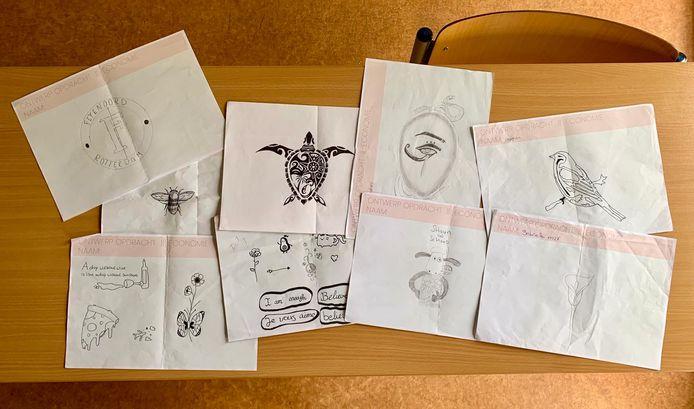 Dit zijn alle ontwerpen die de leerlingen van Juf Sophie hebben ingezonden.